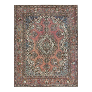 Vintage Tabriz Persian Rug with Traditional Style