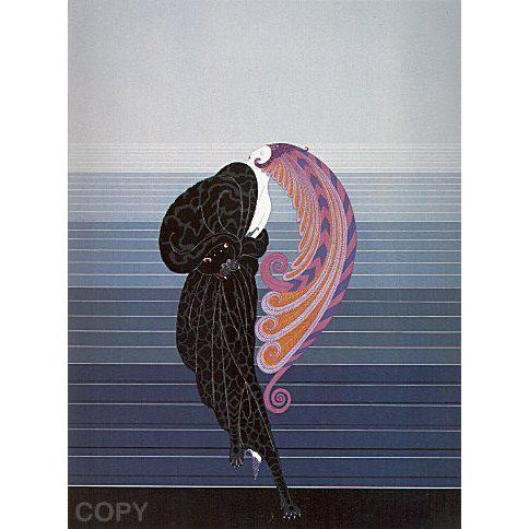 """Paint Erte Signed """"Beauty and the Beast"""" Serigraph For Sale - Image 7 of 7"""