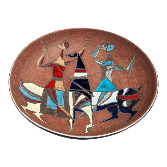 Large Wall-Plaque / Charger by Marcello Fantoni For Sale