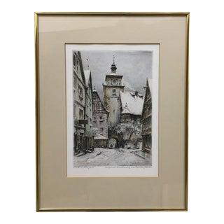 Original Mid 20th Century Etching by Paul Geissler (German 1881-1965) For Sale
