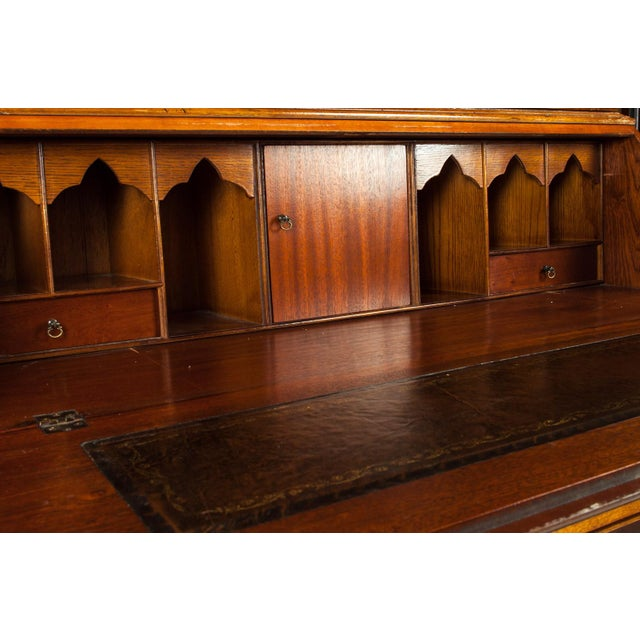 Antique Mahogany Desk Front Hutch or Cabinet For Sale - Image 10 of 13