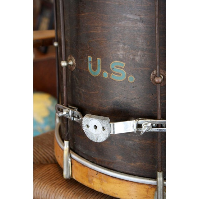 This is a unique 1930'S U.S. Military Rod Drum. Complete with painted details. Patriotic as they come!
