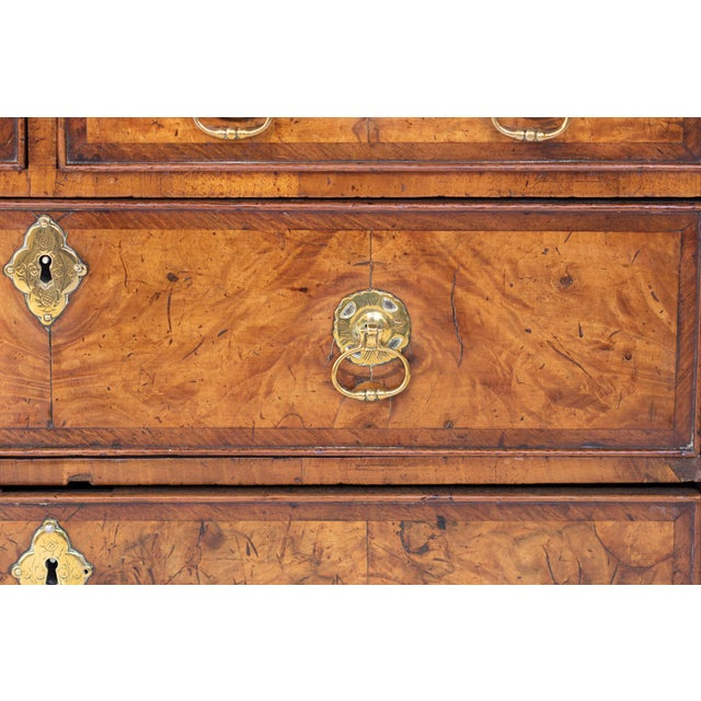 Early 18th Century George I Walnut Bureau Bookcase, English, Circa 1710 For Sale - Image 5 of 8