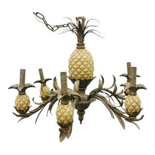 Vintage Pineapple Chandelier For Sale