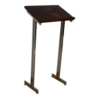 Rosewood and Chrome Music Stand For Sale