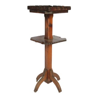 Late 19th C. Antique Dry Goods Store Display Wood Stand For Sale