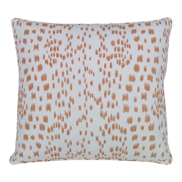 Curated Kravet Les Touches Pillow - Tangerine For Sale