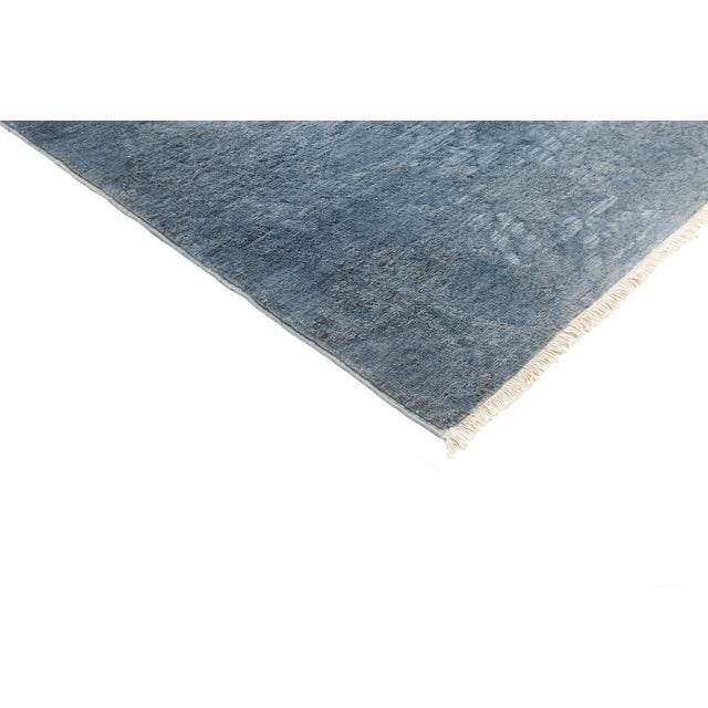 """Blue Over-Dyed Hand-Knotted Rug - 5'2"""" X 6'10"""" - Image 2 of 3"""