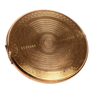 Brass Large Disk Compact For Sale
