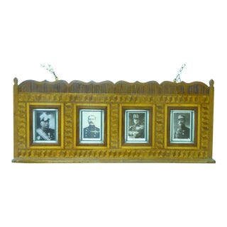 19th Century Folk Art Shelf With Military Figures For Sale