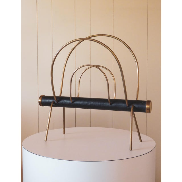 1950s Vienna Magazine Rack in the Style of Carl Aubock For Sale - Image 9 of 9