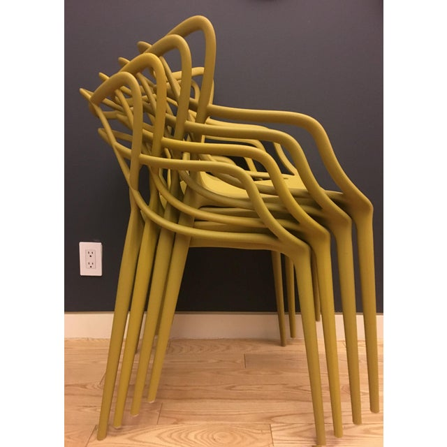 Kartell Mustard Yellow Masters Chairs - Set of 4 - Image 6 of 9