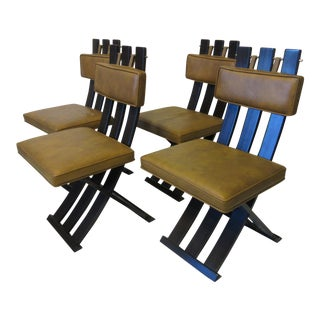 Mid 20th Century X Frame Dining Chairs by Harvey Probber- Set of 4 For Sale