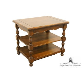 20th Century Traditional Ethan Allen Pine Old Tavern Tiered End Lamp Table Preview