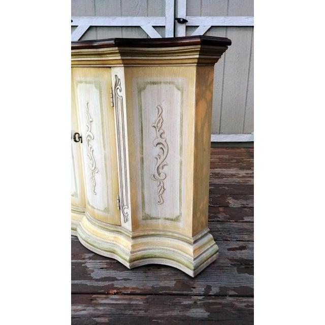 1970s Mediterranean Drexel Heritage Et Cetera 2 Door Painted Console Cabinet For Sale - Image 12 of 13