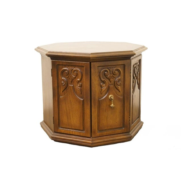 American of Martinsville Octagonal Storage End Table For Sale - Image 10 of 10