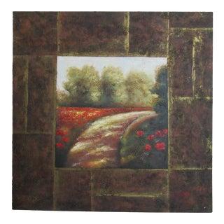 OIl Painting of Garden Scene For Sale