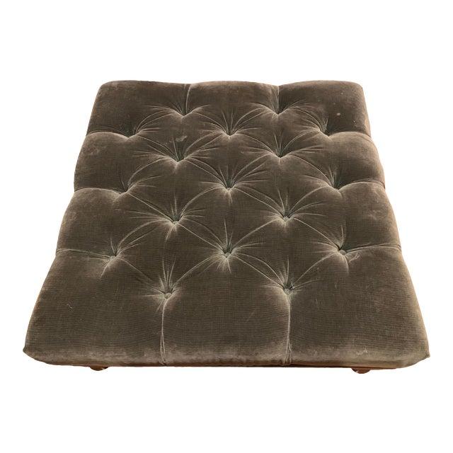 Incredible Ottoman Large Hunter Green Hancock Moore Machost Co Dining Chair Design Ideas Machostcouk