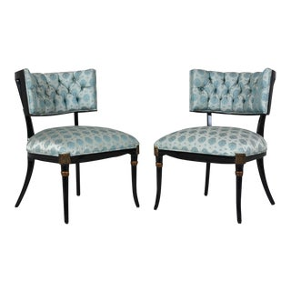 Mid-Century Regency Style Lounge Chairs - A Pair