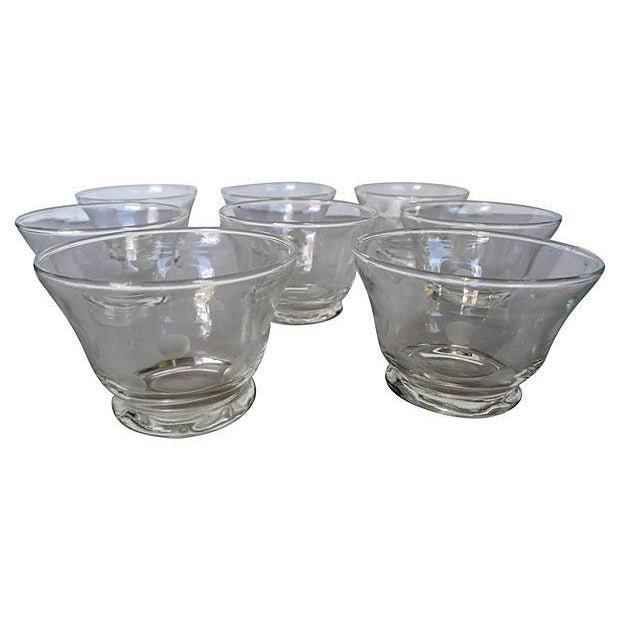Etched Polka Dot Clear Bar Glasses - Set of 8 For Sale