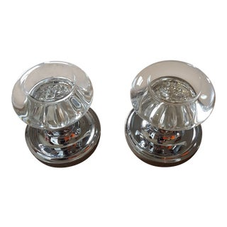 Modern Nostalgic Warehouse Glass Dummy Door Knob- a Pair For Sale