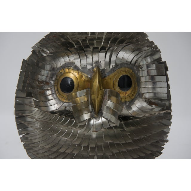 1960s 1960s Brutalist Owl Metal Figurine For Sale - Image 5 of 6