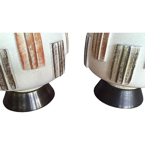 Mid-Century Modern Table Lamps - A Pair - Image 4 of 4