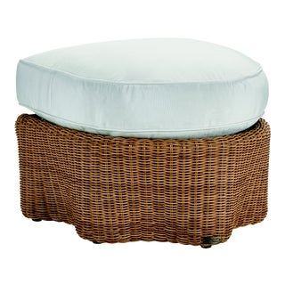 Celerie Kemble - Crespi Wave Outdoor Ottoman For Sale