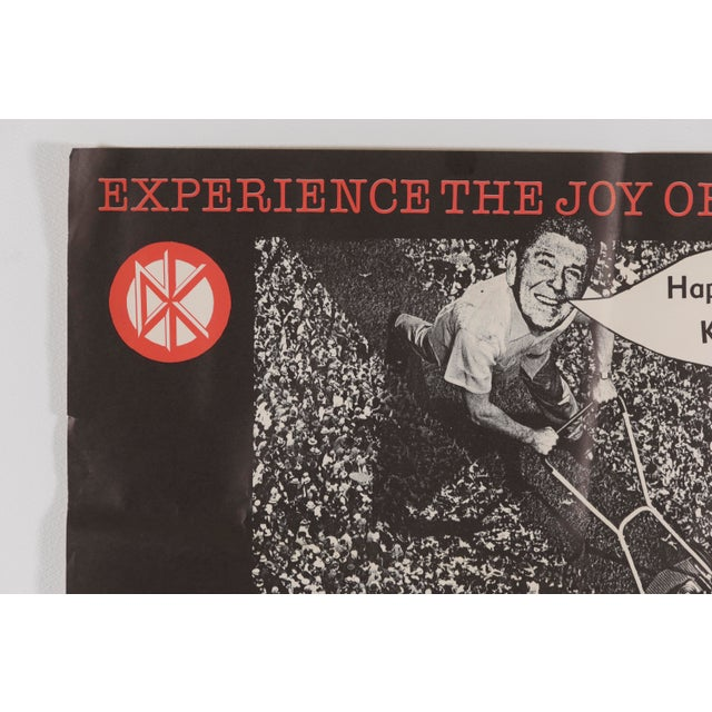 """Dead Kennedys Promotional Poster """"The Sound of Hell Too Close to Home"""", by Winston Smith. 1982 Faulty Products &..."""