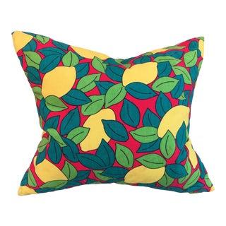 Vintage Hermès Lemon Print Custom Pillow For Sale