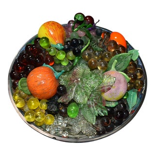 Murano Fruit Bowl Sculpture For Sale