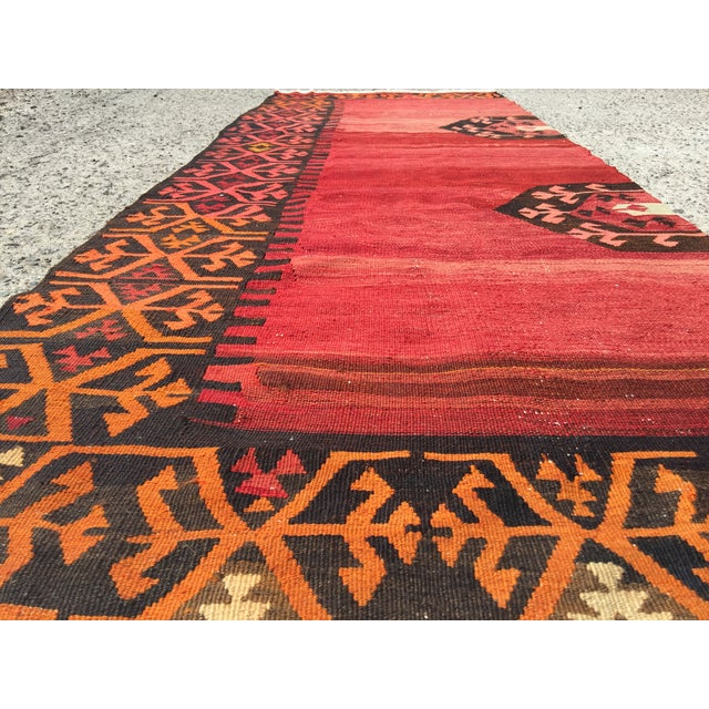 Vintage Kilim Runner - 3′5″ × 9′2″ - Image 4 of 7
