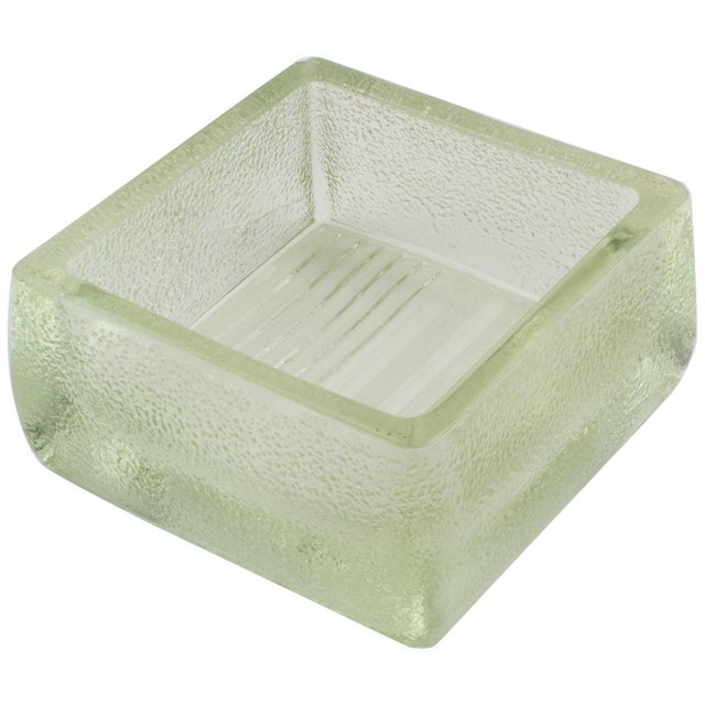 Le Corbusier for Lumax Molded Glass Catchall Ashtray For Sale - Image 13 of 13