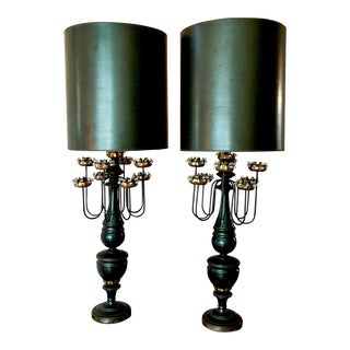 Mid Century Marbro Lamps - a Pair For Sale