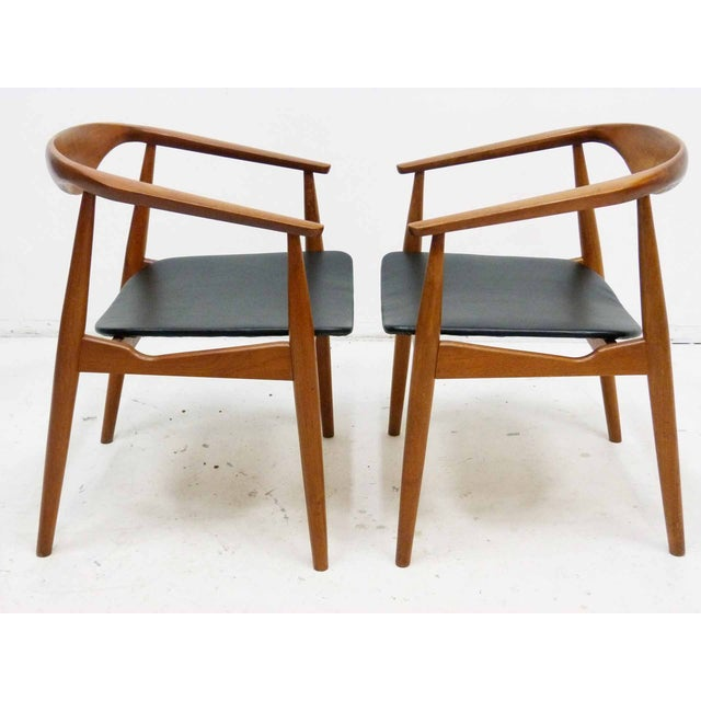 Danish Barrel Teak Armchairs - A Pair - Image 4 of 10