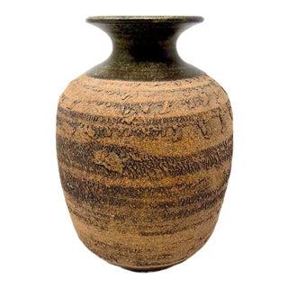 Vintage Studio Pottery Vase by Jerry Meek For Sale