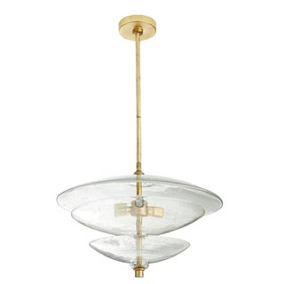 Arteriors Modern Seeds Glass and Brass Renzo Pendant For Sale