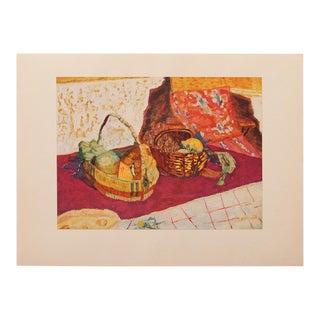 1947 Pierre Bonnard Fruit Basket, Original Liithograph For Sale