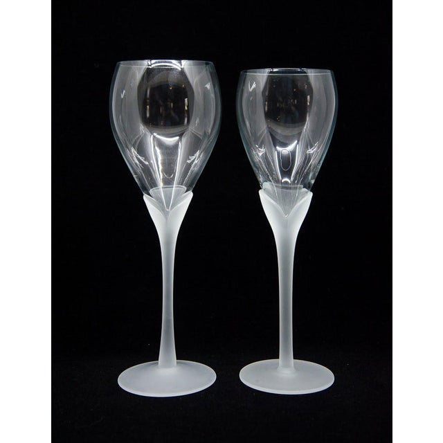 "Mikasa Vintage Mikasa ""Alexandra"" Crystal Tulip Champagne Glasses - Set of 12 For Sale - Image 4 of 8"