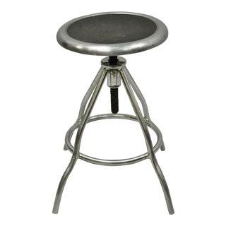 Vintage S. Blickman Stainless Steel Adjustable Medical Dental Work Stool Chair For Sale
