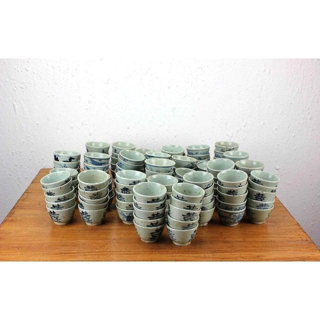 Sarreid Ltd. Vintage Blue & White Cups - Set of 316 - Image 3 of 3