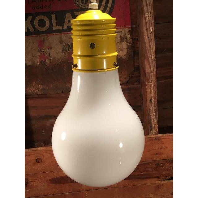 Mid-Century Modern Mid Century Modern Oversized Lightbulb Pendant Ceiling Light For Sale - Image 3 of 10
