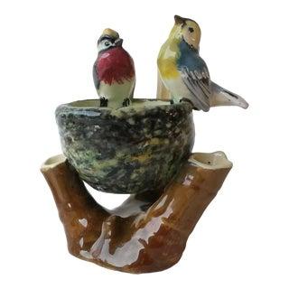 1910s Majolica Birds Nest Vase by Jerome Massier Fils For Sale