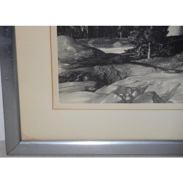 """Stow Wengenroth """"Inlet Light"""" Limited Edition Pencil Signed Lithograph C.1937 For Sale In San Francisco - Image 6 of 8"""