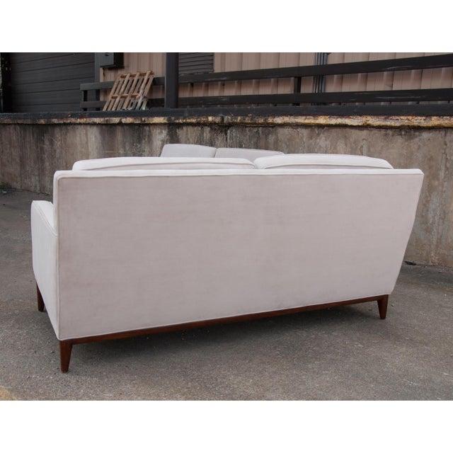 Circa 1950 United States Modern Dunbar/John Stuart Cream Velvet Sofas - a Pair For Sale In Richmond - Image 6 of 10