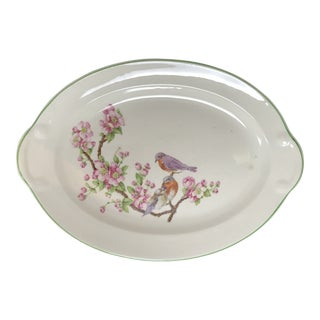 "1942 Taylor, Smith & Taylor Oval Serving Platter ""Birds on Branch"" For Sale"