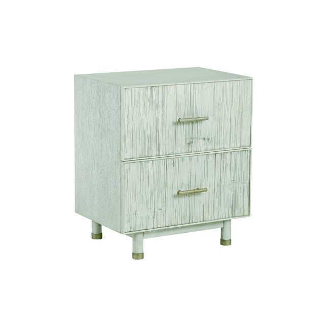 Contemporary Century Furniture Biscayne 2 Drawer Nightstand, Peninsula Finish For Sale - Image 3 of 4