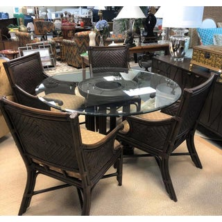 Rattan & Glass Top Dining Set Preview