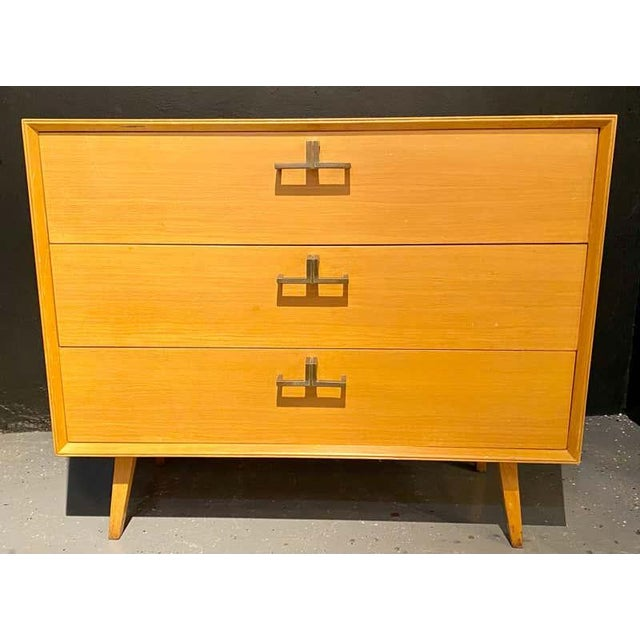 Pair of Mid-Century Modern Bachelor Chest, Commodes or Dressers For Sale - Image 4 of 13