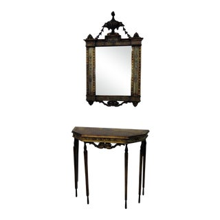 Early 20th C. Venetian Style Console Table & Mirror For Sale